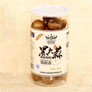 【宏万年】独头黑蒜 500g灌装 特优品黑大蒜